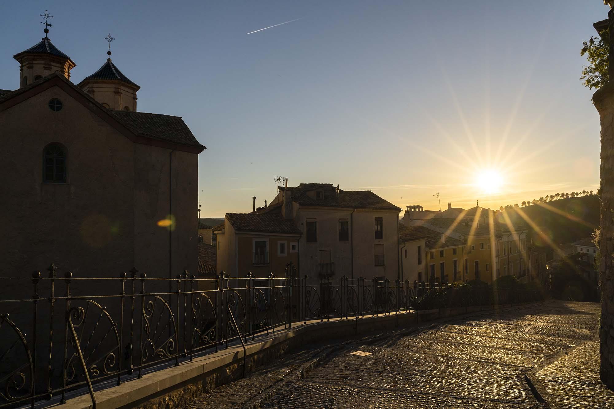 Barrio judío de Cuenca desde la Plaza Mangana