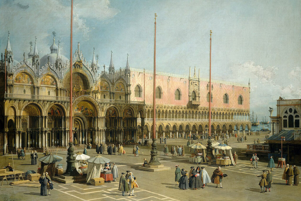 Obra de Canaletto 'La Plaza de San Marcos', Venecia